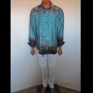 Robert Graham Swashbuckler Ombre Plaid Sport Shirt